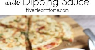 Pizza Quesadillas (Pizzadillas) with Dipping Sauce Recipe