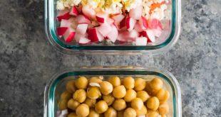 Chopped Mediterranean Chickpea Power Salads