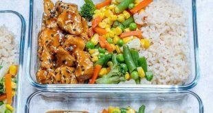 #MealPrep Teriyaki Chicken Bowls für saubere Essziele! - Clean Food Crush