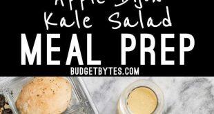 Apple Dijon Kale Salad Meal Prep