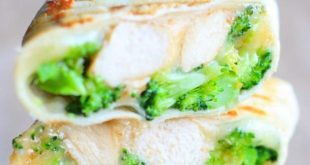 Cheesy Chicken and Broccoli Wraps