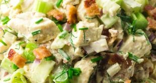 Easy Keto Chicken Salad with Bacon - Green and Keto #ketodiet #loseweight #weigh...