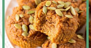 These healthy pumpkin muffins are moist and tender, plus they are made with heal...